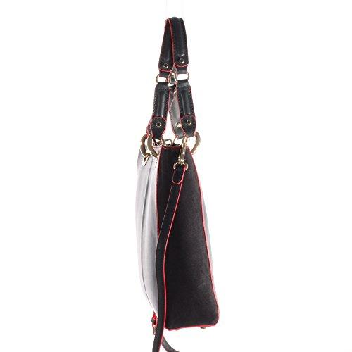 Tommy Hilfiger Handtasche Modern Minimalist Tote Suede 260 AW0AW02167 Midnight 001 Damen Tasche