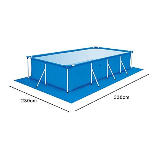 41IfyP9%2B7NL. SS500 【Tamaño adecuado】 330 * 230 cm / 129.92 * 90.55 pulgadas de tela rectangular rectificada / 0.69 kg. 【Fácil y conveniente】 Instalación simple, adecuada para varias piscinas. 【Fácil de transportar y guardar】 Se puede plegar para facilitar el movimiento a cualquier lugar.