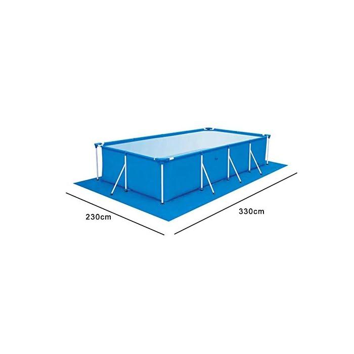 41IfyP9%2B7NL 【Tamaño adecuado】 330 * 230 cm / 129.92 * 90.55 pulgadas de tela rectangular rectificada / 0.69 kg. 【Fácil y conveniente】 Instalación simple, adecuada para varias piscinas. 【Fácil de transportar y guardar】 Se puede plegar para facilitar el movimiento a cualquier lugar.