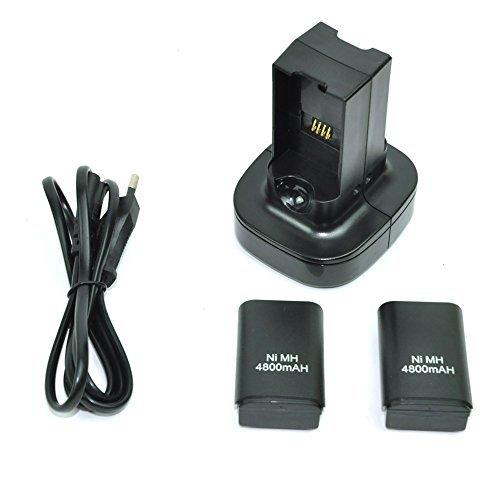 MP power @ Cargador doble estación de carga del muelle y 2 baterías para XBOX 360