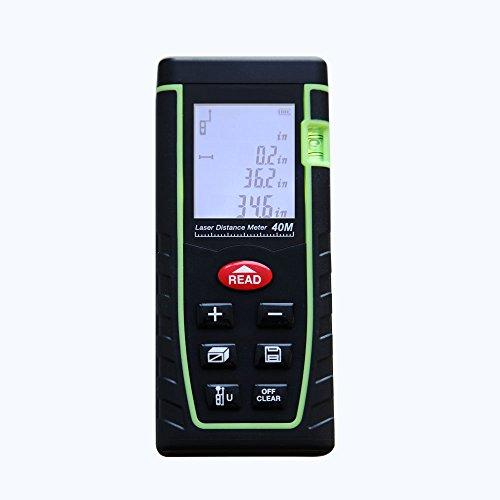 YUSHI Professional handheld portable Laser Distance gauge Meter range 0.16 to 131ft (0.05 to 40M) (Ultrasonic Meters Thickness)