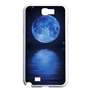 Qxhu moon in sky Hard Plastic Cover Case for Samsung Galaxy Note2 N7100