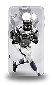Galaxy Protective 3D PC Case For Galaxy S6 NFL Minnesota Vikings Adrian Peterson #28