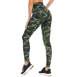 AY Leggings de Sport Femmes Pantalon Yoga avec Poches, Taille Haute Leggings Sport, Collants de Course Entraînement pour…