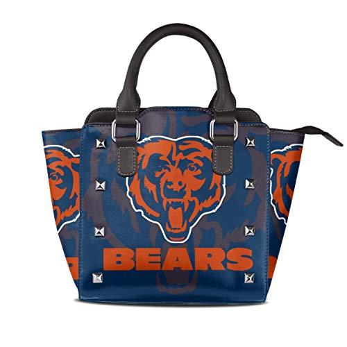 Chicago Bears Nfl Nano - Aoskin Custom Chicago Bears Women's Luxury Rivet Leather Handbag Shoulder Tote Bag,Women Shoulder Bags Satchel Purse