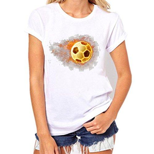Mujer SANFASHION de Shirt145 Para Bailarinas Weiß Bekleidung Damen Algodón SANFASHION Weißg Blanco rOpR8fWr