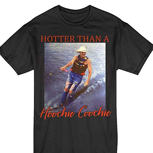 Alan-Jackson Hotter Than A Hoochie Coochie Vintage T-Shirt Black