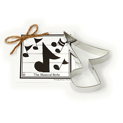 Musical Note Cookie and Fondant Cutter - Ann Clark - 4.9 Inches - US Tin Plated (Breast Cancer Awareness Tins)