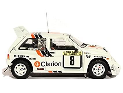 Amazon.com: Sunstar 5536 – MG Metro 6R4 Rally 1000 Lakes 1986 – Scale 1/18 White: Sun star: Toys & Games