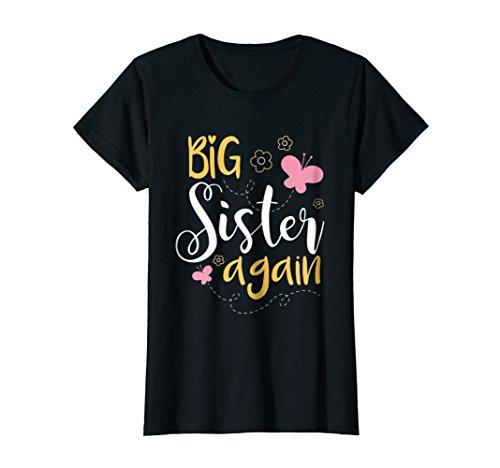 Big sister again T-shirt - Sibling older daughter shirt gift -