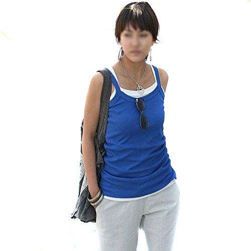 Mississhop Damen Boxershirt Top Shirt Tanktop Baumwolle Blau Lpwh8ouw9