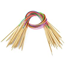 """Celine lin 18 sizes 32 inch""""(80cm) Colorful Circular Bamboo Knitting Needles (2mm-10mm)"""