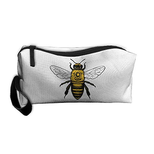 Cosmetic Bags With Zipper Makeup Bag Wild Bumblebee Middle Wallet Hangbag Wristlet Holder -