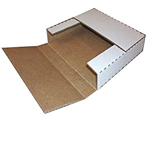 """Vinyl Record Mailers (50) White Holds 1-4 - 12"""" Record LP Cardboard Multi-Depth Mailers by ValueMailers"""