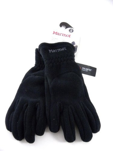 [New Marmot Interlaken Black Heavy Fleece Snow Winter Work Warm Men Gloves (XL)] (Marmot Mens Work Gloves)