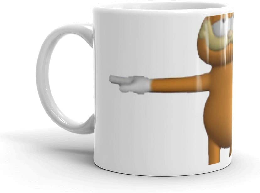 Amazon Com Garfield T Pose 11 Oz White Ceramic Coffee Cups Mugs