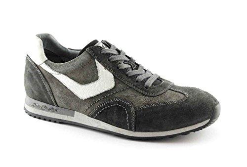 NEGRO JARDINES 4471 de piedra gris de los deportes de los zapatos cordones de los hombres de la zapatilla de deporte Grigio