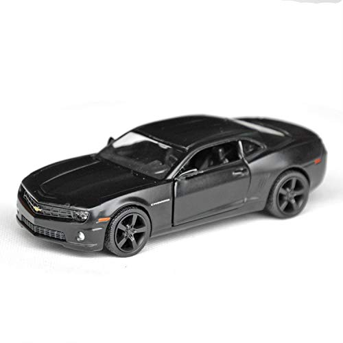 Model Of Vehicle - Tianmei 1:32 Scale Supercar Styling Alloy Die-Cast Car Model Collection Decoration Ornaments, Kids Play Vehicle Toys with Pull Back Action and Open Doors (Camaro - Black)