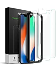 UGREEN Screen Protector Compatible for 5.8-inch iPhone 11 Pro/XS/X, Tempered Glass HD Screen Saver, 2.5D Curve Edge, 9H Hardness, Anti-Fingerprint, Bubble-free, 2-Pack with Alignment Frame