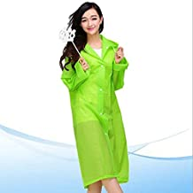Ezyoutdoor® Green Raincoat Transparent Packable Slicker Poncho Bicycle Ridding Cape Cycling Bike Waterproof Rain Cape for Outside Camping Hiking Walking Travel with Gift Kids Rain Poncho
