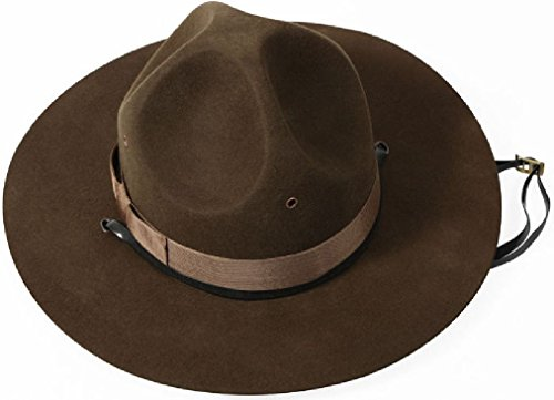 Drill Sergeant Hat Drill Instructor Army Campaign State Trooper Military Uniform (Wool Drill Hat)