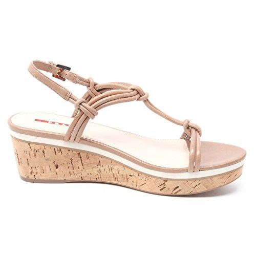 Donna Prada Shoe Zeppa Scuro Sport Sandal Woman Beige Sandalo Scarpa B3894 gwxEwCUq4