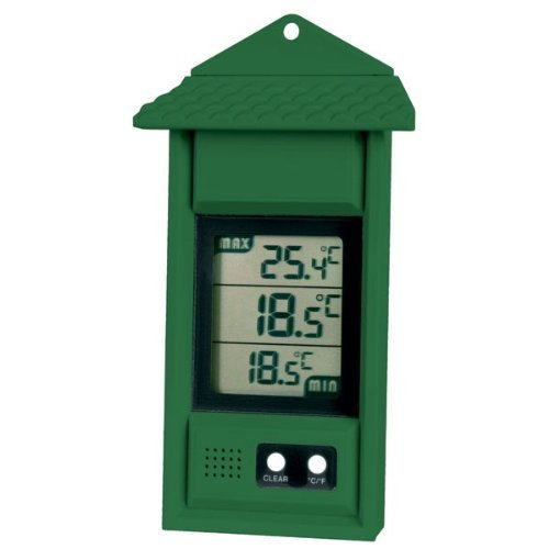 Digital max/min thermometer for conservatories, greenhouses & grow rooms (Green) ETI Ltd 810-111