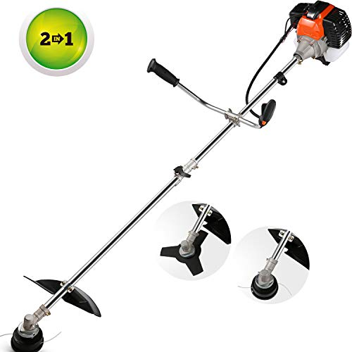 Read About momiloeUS 42.7cc Weed Eater Gas Straight Shaft String Trimmer/Brush Cutter 2-Cycle with U...