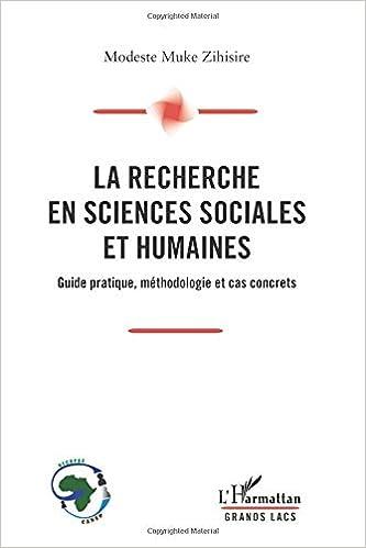 La Recherche En Sciences Sociales Et Humaines Guide