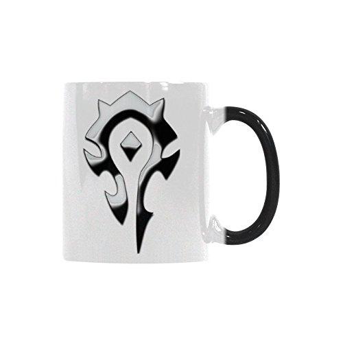 World Of Warcraft Horde Coffee Mug Funny Mug Morphing Changing Color Heat Reveal Tea Cup 11oz