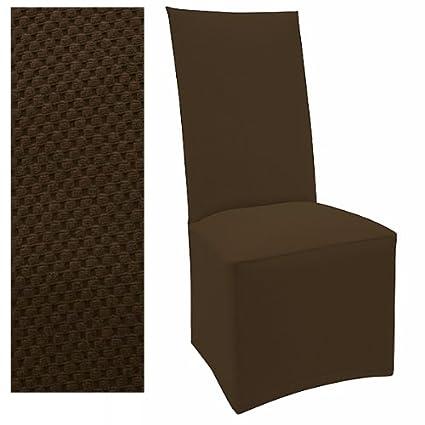 Amazoncom Stretch Pique Dutch Chocolate Set Of Four Dining Chair