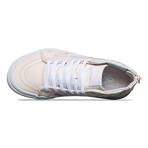 70c74fd443 Vans Kids SK8-Hi Zip (Glitter Pegasus) Heavenly Pink/True White ...