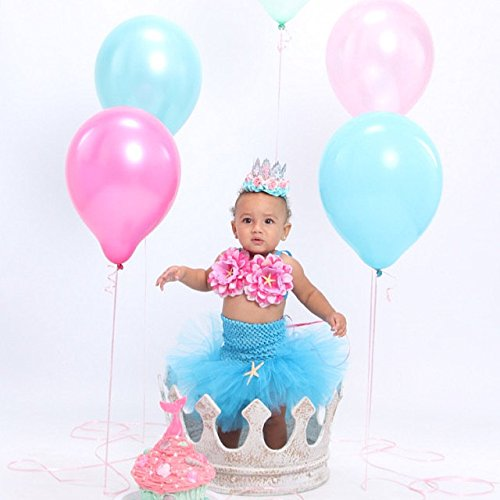Girl Embellishments (Mermaid Birthday Outfit Costume Baby & Toddler Girl)