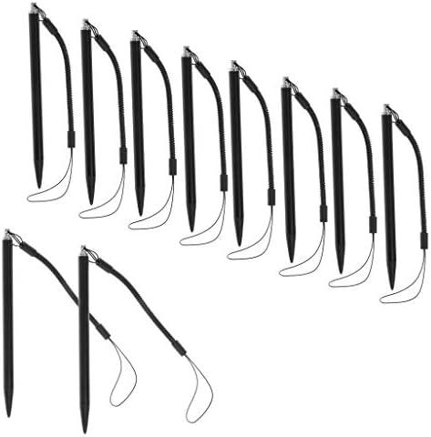 H HILABEE 10 stuks resistiven touchscreen stylus pen met springtouw voor POS PDA navigator