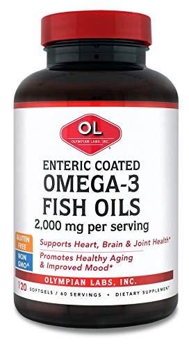 Cheap Olympian Labs Enteric Coated Omega 3 Fish Oils, 2000 mg per serving/ 60 servings, 120 Softgels