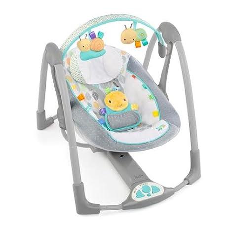 Taggies 60124 - Columpio portátil de lujo con cintillas de satén, 5 velocidades y 8 melodías: Amazon.es: Bebé