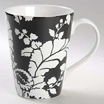 Amazon.com: Roscher & Co Ambiance-Black Mug, Fine China Dinnerware ...