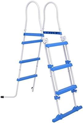 vidaXL Escalera de Seguridad para Piscina, Escalera de Entrada ...