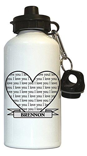 I Love You Brennon Water Bottle White, 1008 (Brennon)