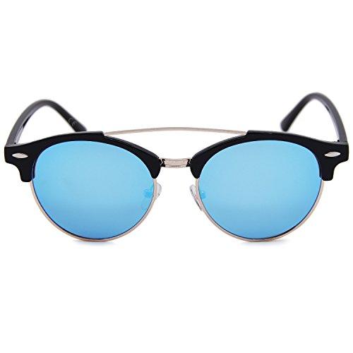 AMZTM Hielo Gafas para sol Azul de hombre pqzxrfnwpS