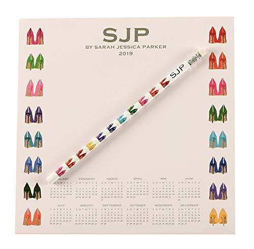 (SJP by Sarah Jessica Parker Fawn Wall Shoe Calendar Notepad & Pencil Desk Set Stationery)