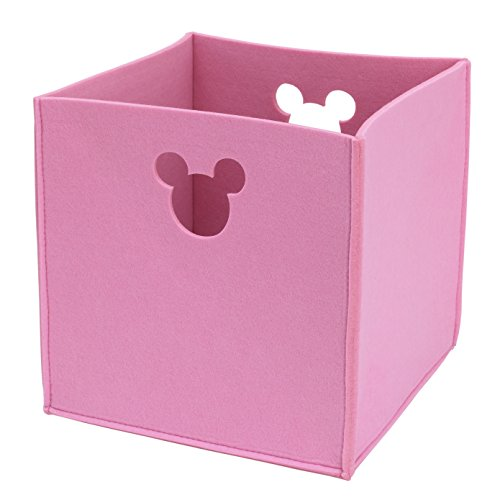 Disney Felt Die Cut Storage Bin, Pink, Minnie Mouse