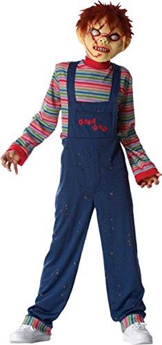 [Boys Chucky Kids Child Fancy Dress Party Halloween Costume, L (10-12)] (Chucky Costume For Kids)