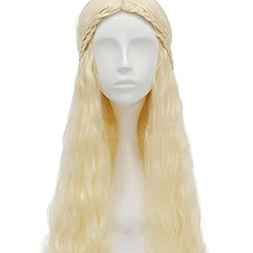 thematys Khaleesi Daenerys Targaryen peluca wig - Disfraz de Game of Thrones - Perfecto para Carnaval