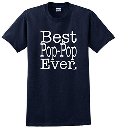Best Pop-Pop Ever T-Shirt 4XL Navy