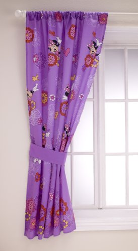 Disney Minnie Fluttery Friends Window Panel and Tieback