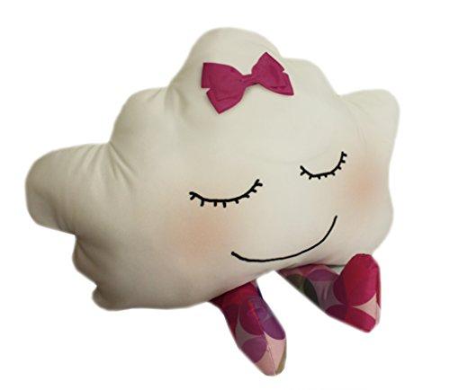 Almofada Nuvem Rosa com Listras 40x50