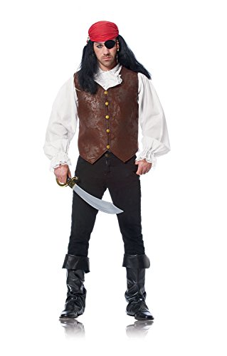 Costume Culture Men's Distressed Vest, Brown, Standard - Pirate Vest Male