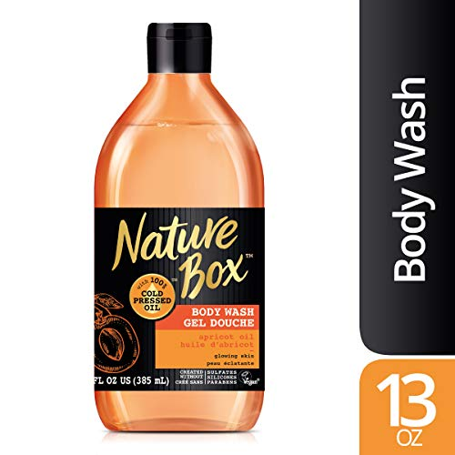 Nature Box Body Wash - for Glowing Skin, with 100% Cold Pressed Apricot Oil, 13 Ounce (Best Body Oil For Glowing Skin)