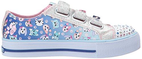 Skechers Shuffles-Paw Party, Zapatillas Para Niñas Azul (Blue/pink)